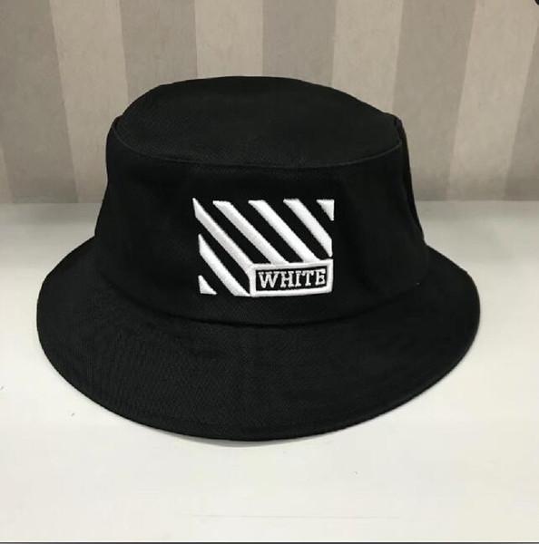2019 yeni beyaz Seyahat Balıkçı Eğlence Kova Şapka Düz Renk Moda Erkek Kadın Düz Top kapalı Geniş Ağız Yaz Kap Bowler Kap