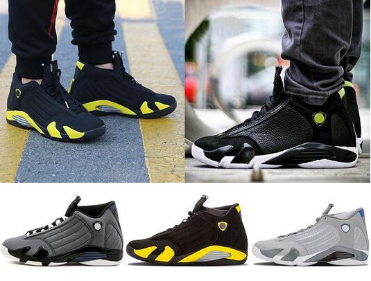 brand new 9ff15 9dabe Classic 14 14s Mens Black Toe Basketball Shoes Last Shot Indiglo Thunder  Wolf Grey Red Mens Sports Sneakers Designer Trainer Shoes Loafers For Men  ...