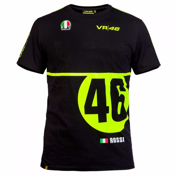 2018 VR 46 Moto GP The Doctor Riding Wicking T-Shirts Men's Quick-drying T-Shirt motorcycle racing sports jersey Tops