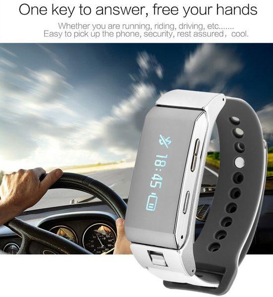 Neue 2 in 1 Bluetooth kopfhörer Smart Armband K2 Band Armband Für Android Phone Fitness Tracker Anruf Erinnern Abnehmbare PK Huawei Talkband
