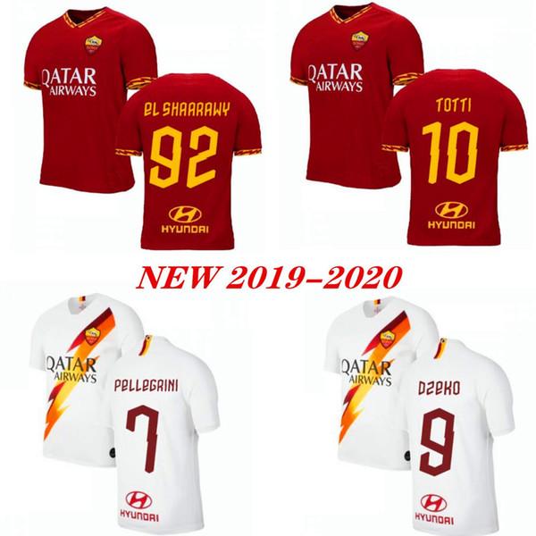 DE ROSSI DZEKO ZANIOLO Fußball Trikot Rom 2019 TOTTI PEROTTI Trikot 19 20 Fußball Trikot 2020 Roma Männer und Kinder Uniformen