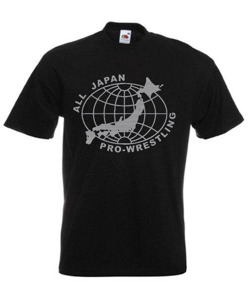 All Japan Pro Japanese Wrestling Retro Wrestling Mens Funny Tshirt Mens Streetwear Tshirts Gym King T Shirts Brand