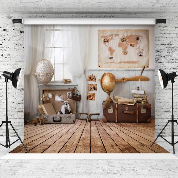La valise de la chambre du garçon la scène du parti jouer photo fond vinyle toile photographie photographie tops personnaliser pour Studio Photo Shoot