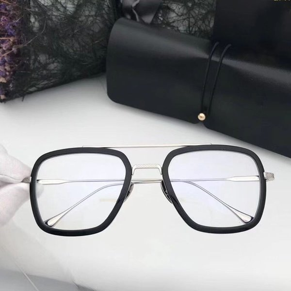 black silver with clear lens