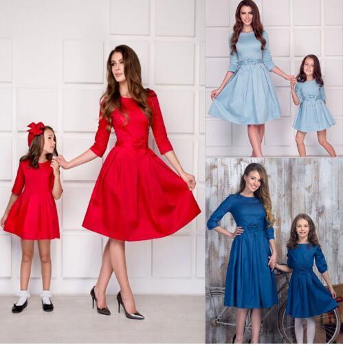 334faefc97a3e Acheter Famille Mère Et Fille Robe Casual Automne 2019 Femmes ...