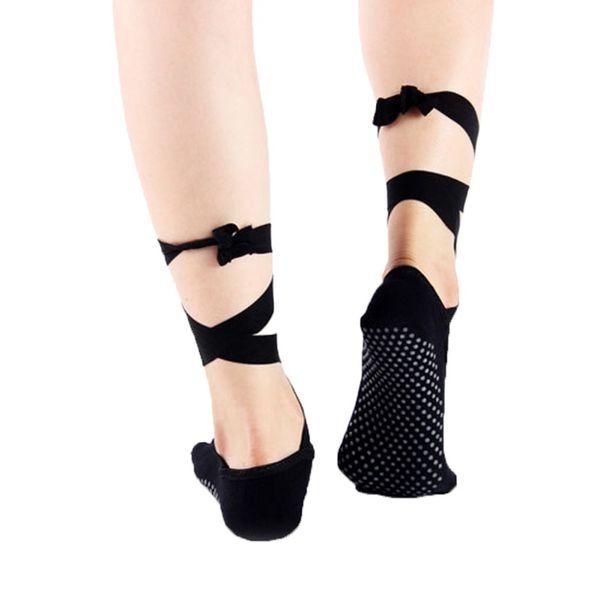2019 originale nessuna tassa di vendita grande vendita Acquista Calzini Antiscivolo Peep Toe Yoga Sport Fasciatura Sock Open Toe  Lace Up Ballet Donna Toeless Socks Antiscivolo Dancing A $33.34 Dal  Yiyunwat ...