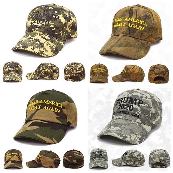 Donald Trump 2020 chapéu Camuflagem Bonés de Beisebol América Grande Snapback Chapéu bordado chapéu 4 projeto LJJK1695