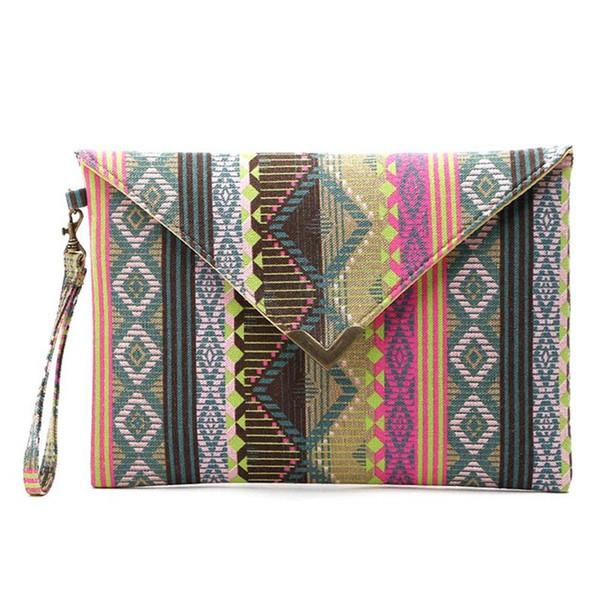 Moda estilo nacional de la lona bolso de embrague de las señoras del partido de las mujeres bolsos de noche bolso de compras del ocio bolso monedero al por mayor