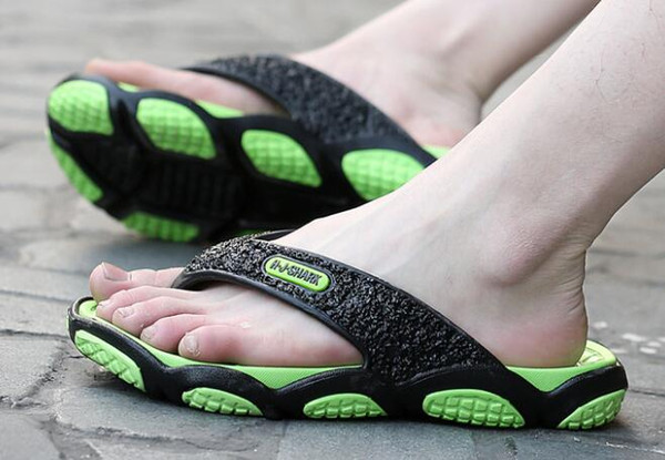 Slippers Men's Massage sole flip flops Anti skid beach shoes in summer and men sandals in indoor bathroom online shopping stores for sale men Euro Size 39-45 ; Drop Shipping And Mix order Accepted ! 100% New Shoes, ,More Then 10 Colors For Choosing, You can feel free to contact me to get more info. you need.We hope to establish a long -term business relationship with you.