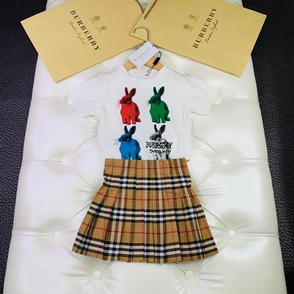 Duas Peças Outfits 2019 Bebê Crianças Roupas Set Novo Em Crianças de Manga Curta Lazer Tempo Carta de Terno Roupas 0714