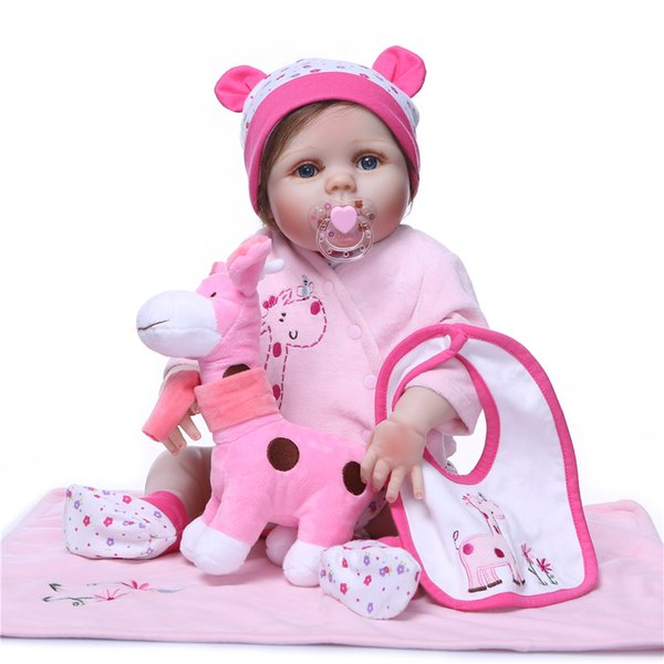Bebe Reborn Baby Dolls Silicone Full Body Soft Baby lifelike Doll for Girls Kid Fashion Bebes Reborn Dolls Xmas gift bath toy