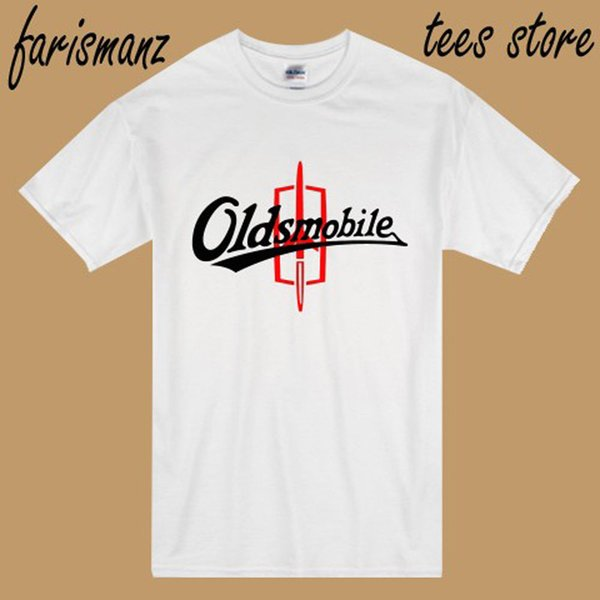 New Oldsmobile Logo Classic Car Emblem Men's White T-Shirt Size S to 3XL hip hop funny tee summer o neck tee