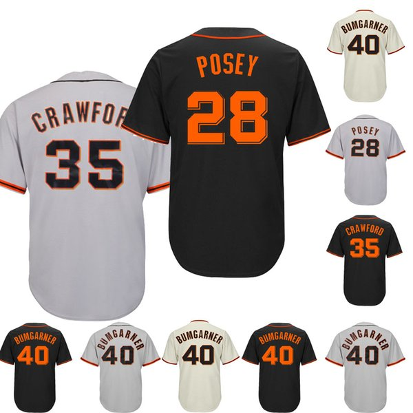 release date 99c92 9b3d4 2019 Latest Version San Francisco Giants Baseball Jerseys Stitched 28  Buster Posey 35 Brandon Crawford 40 Madison Bumgarner Embroidery Logo From  ...