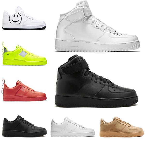 2019 Nike Air Force 1 off white Yeni Dunk Programı erkek casual ayakkabı Bir GÜN VAR JDI siyah beyaz yüksek düşük kesim moda marka üçlü siyah FORCED Tasarımcı Sneakers