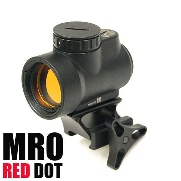 Tactique MRO Red Dot Sight 2 MOA AR Optique Trijicon chasse portée de fusil avec basse et haute QD Mont ajustement de 20 mm rail