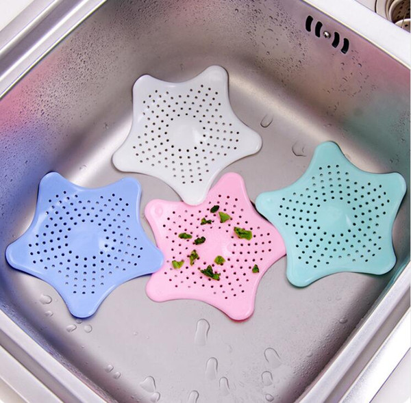 Kitchen Gadgets Accessories Star Outfall Drain Cover Basin Sink Strainer Filter Shower Hair Catcher Stopper Plug