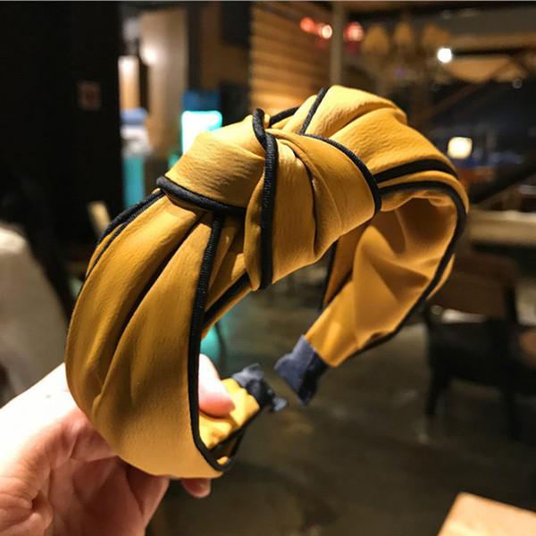 Mode Hiver Turban Bandeau Pour Les Femmes Noué Bande De Cheveux Élastique Tête Bande Accessoires De Cheveux Pour Les Filles