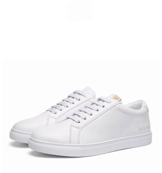 nouvelle qualité coréenne sauvage version de la première couche de cuir respirant chaussures de sport en cuir petites chaussures blanches chaussures36-45