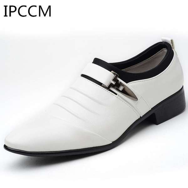 2019 Spring And Autumn PU Leather Men's Breathable Non-slip Retro Classic Men's Dress Shoes Official Office Business