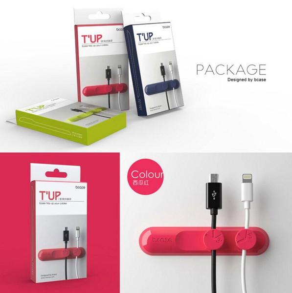 BCASE TUP T \ 'UP Magnético USB Cable Clip Desk Tidy Organizador Fio de Chumbo Cabo USB Titular Ímã Atacado Frete Grátis