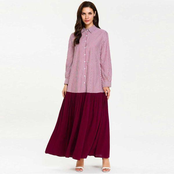 2019 Women Lace Up Muslim Shirt Dress Plus Size Abaya Kimono Dubai Kaftan  Arabic Islamic Patchwork Oversized Dressing Gown VKDR1592 From Jilihua, ...