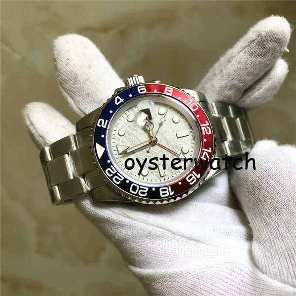 All New 2019 MTS Sales Christmas Standard Strap Watch Automatic Watch Stainless Steels White Dial Mens Sapphire Watches All New Mountains