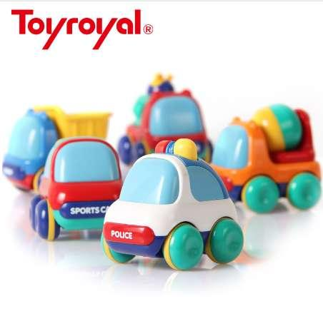 Toyroyal Baby Inertia Vehicles Push and Go Toddlers Mini Friction Plastic Powered Car Toys Gift for Children Kids Boys and Girls