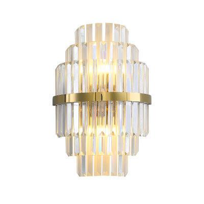 Gold Crystal Wall Sconces Lighting Bedroom Living Room LED Wall Lamp Bedside Decoration Wall Light Fixtures