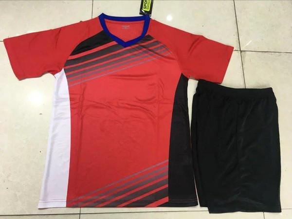 2019 nuovo set da basket da calcio set da tennis da tavolo a manica corta per adulti nome personalizzato squadra numero 1916 rosso e blu