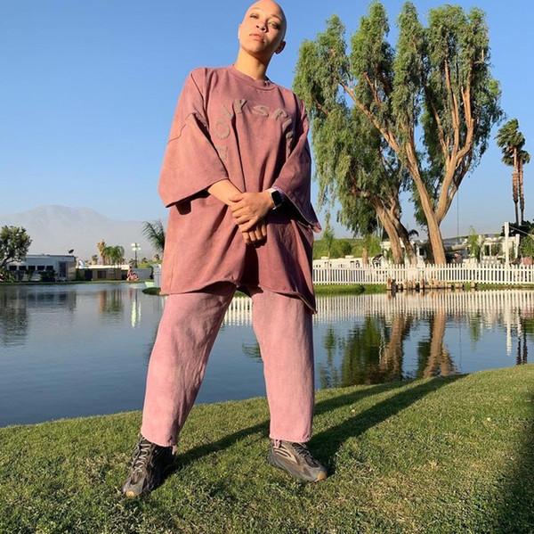 Kanye West Sunday Service HOLY SPIRIT Vintage T-shirt à manches courtes en détresse Sweat en coton M-L