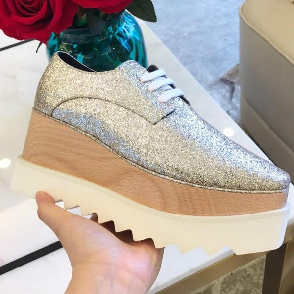 Hot women's shoes color matching fashion comfortable thick-soled casual shoes classic style platform shoes size 35-41
