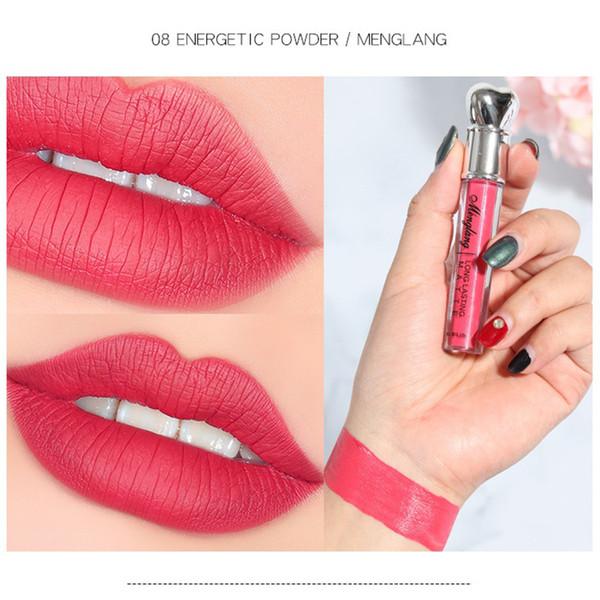 Menglang Lasting Matte Lip Gloss Sexy Rossetto nudo Lip Matte Liquid Rossetto Impermeabile Duraturo Rossetto Trucco Maquillage
