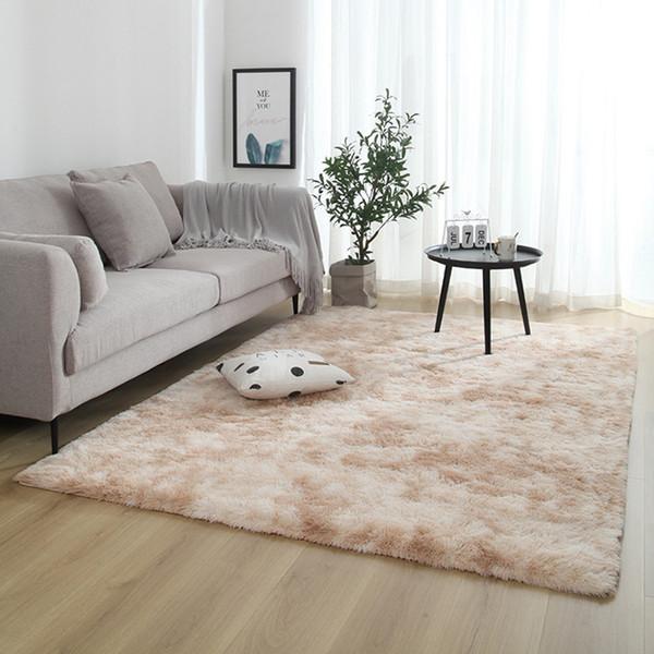Soft Child Bedroom Mat Thicker Bathroom Non Slip Mat Rug For Living Room Solid Pile Plush Carpet Rug 4 Sizes Vloerkleed High End Carpet Brands Carpet