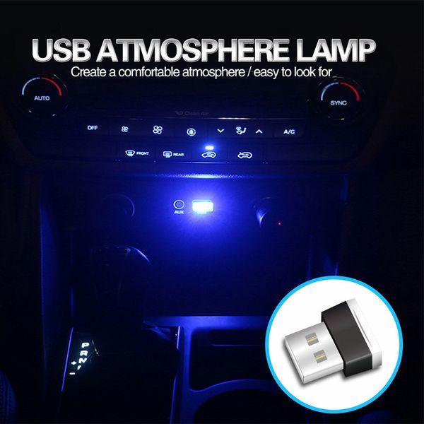4PACK Mini LED Car Light Interni auto USB Atmosfera Luce Plug and Play Decor Lampada illuminazione di emergenza Home Computer e altre prese USB