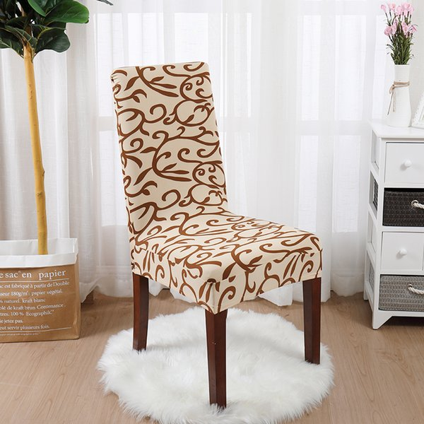 1/2/Spandex Elastic Printed Dining Chair Slipcover Modern Removable Anti  Dirty Kitchen Seat Case Chair Covers For Banquet Dining Room Seat Covers ...