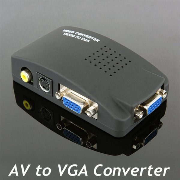 High Resolution Digital AV S video to VGA TV Signal Converter Adapter S-video to VGA Switch Conversion for PC Notebook
