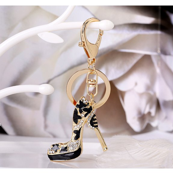 Shoes Keychain Purse Pendant Bags Cars Shoe Ring Holder Chains Key Rings For Women Gifts Women acrylic High Heeled