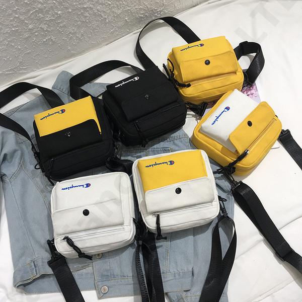 Canvas Champions Letter Print Crossbody Waist Bag Belt Handbag Fashion Fanny Pack Backpacks Sports Travel Beach Shopping Bags C3268