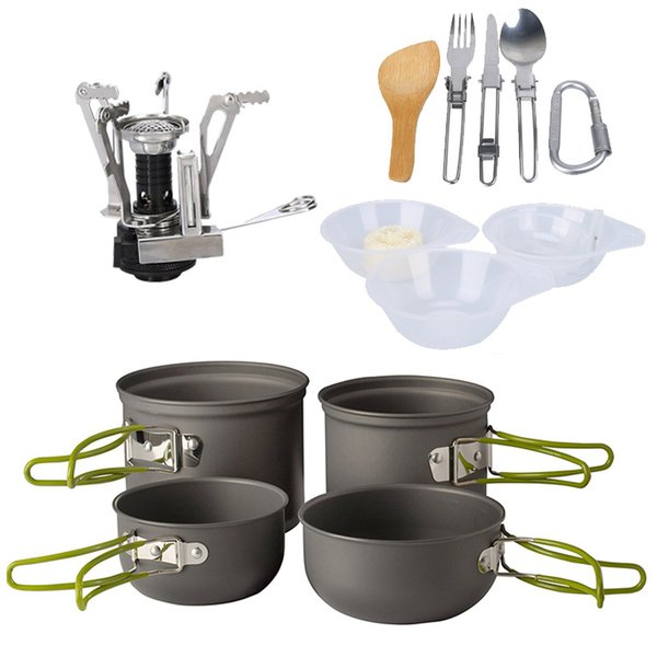 Outdoors Portable Camping Pot 2 Persons Picnic Cooker Durable Foldable Easy To Install High Hardness Stainless Steel Camp Kitchen 60ppI1