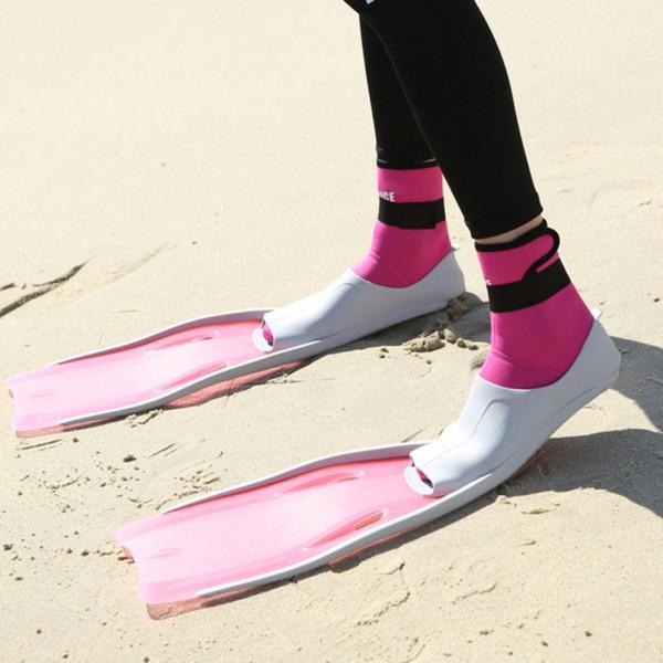 Snorkel Swim Fins Neoprene Swimming Flipper زعانف الغوص المضادة للبالغين للبالغين النيوبرين الزعانف للغطس