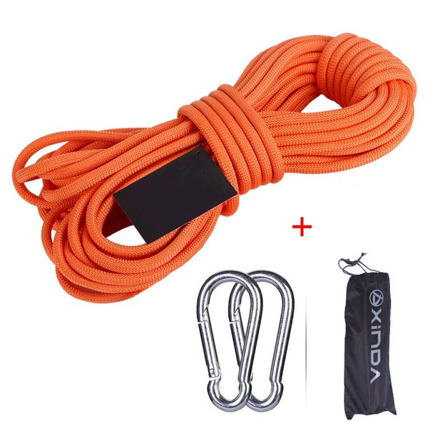 Climbing Rope 30/20/15/10 Meters Rock 6mm Tree Wall Climbing Equipment Gear Outdoor Survival Fire Escape Safety Rope Carabiner