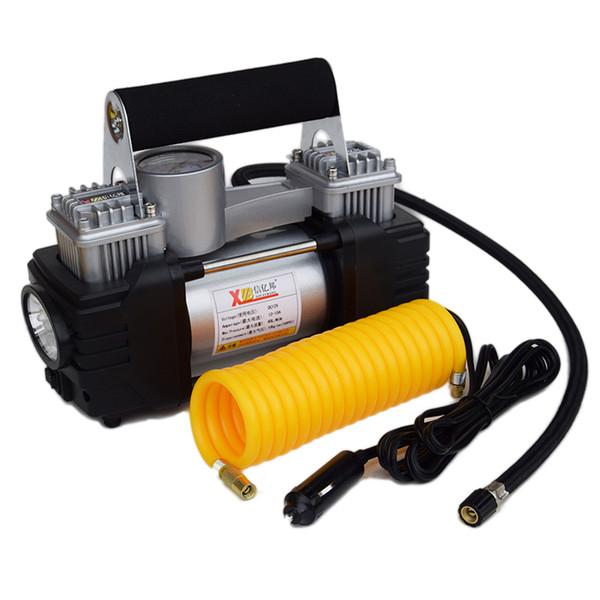 XINYIBANG 12 V Heavy Duty Duplo Cilindro Compressor de ar Do Carro Pneu Portátil Inflator De Pneus Do Carro de Metal bomba de ar Do Carro com Bolsa Livre