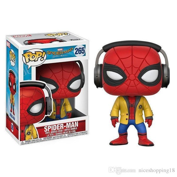 Sale Funko POP Spider Man Bobble Head Vinyl Action Figure With Box #626 Toy for childrens gift hot sell Doll Good Quality