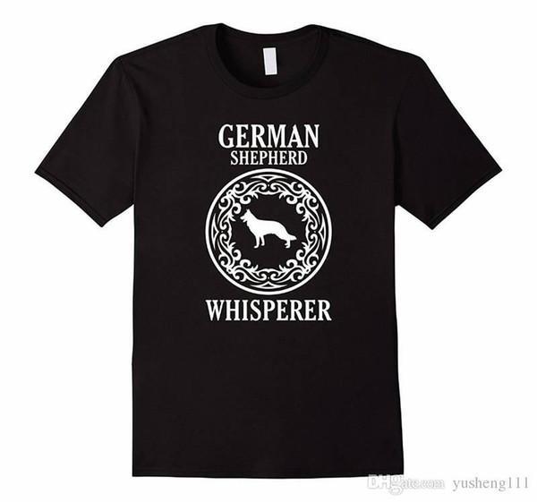 Brand Cotton Clothing Male Slim Fit T Shirt Casual German Shepherd Whisperer Crew Neck Short-Sleeve Mens Tee Shirts