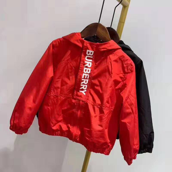 best selling luxury fashion children jacket hot stamping embroidery casual jacket B brand kids zipper letter Jackets 3-12 years
