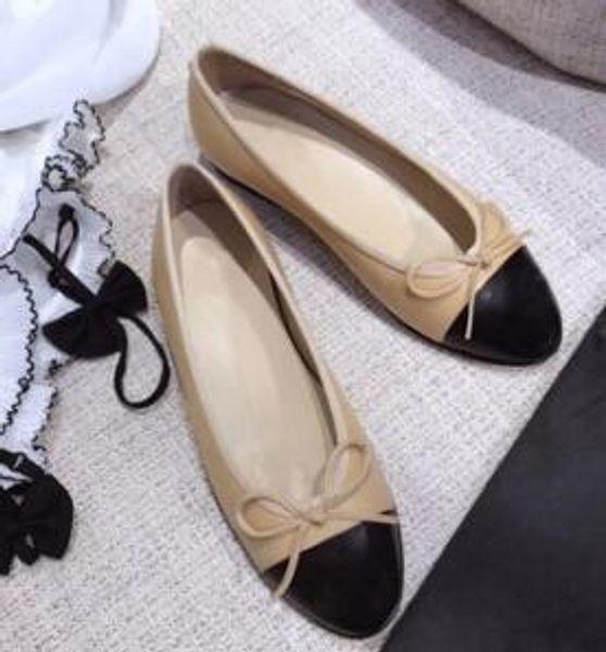 frauen casual designer schuhe rhombische schaffell flache schuhe runde kopf casual bow ballettschuhe qualität