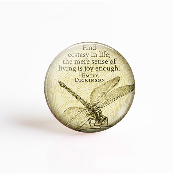 5Pcs/lot Emily Dickinson Life Quote Pendant 25mm Round Glass Cabochon Photo Cameo Jewelry Necklace Accessories