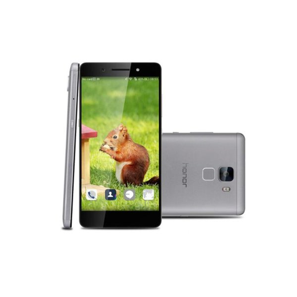 Original Huawei Honor 7 4G LTE Cell Phone Octa Core 3GB RAM 16GB ROM Android 5.2inch 20.0MP Camera Fingerprint ID Smartphone