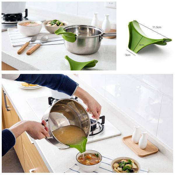 High Quality Silicone Pour Spout Slip On Mess Free for Pots Pans and Bowls 11.5*4*3cm Random Color