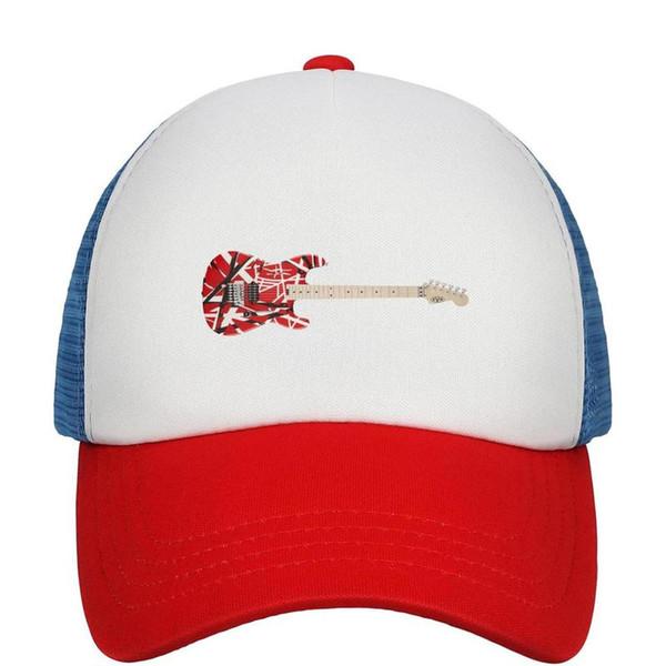 Kids Boys Girls Children Adjustable Baseball Cap Van Halen guitar Sun Hat Mesh Fitted Cap